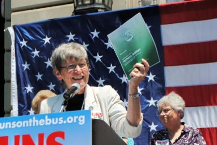 Sister Simone Campbell of Nuns On The Bus:  We urged people to speak up, to connect, to talk to one another.
