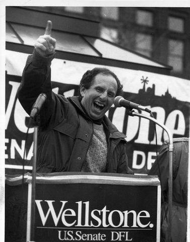 The passion and joy of Paul Wellstone:  We could use it in today's political scene.