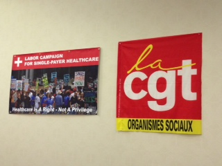 International solidarity from CGT was proudly displayed.
