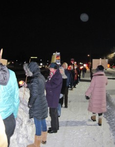Part of the Minnesota protest against the Keystone Pipeline held February 3 as part of a nationwide vigil.