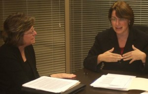 MPP's Roxanne Abbas with Minnesota Senator Amy Klobuchar.