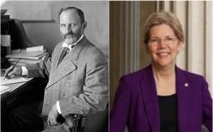 Sen. Joseph Ransdell (1914) and Sen. Elizabeth Warren (2014)